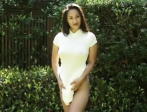 Solo Models,Asian,Long Hair,Outdoor Naughty Asian chick reveals her body...