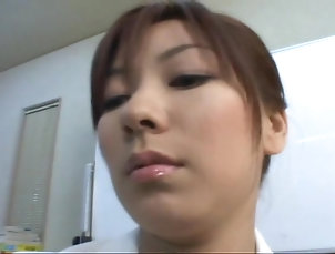 Couple,Japanese,Pantyhose,Nylon,Office Japanese sweetie gets her pussy...