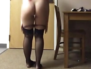 Asian,Japanese Asian Redhead Tries on Her Underwear...