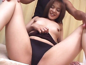 Couple,Hardcore,Asian,Japanese,Pussy,Hairy,Close Up,Fingering Once her Asian cunt is exposed she...