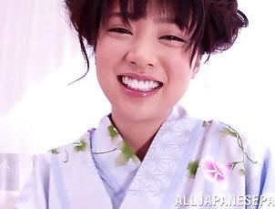Couple,Hardcore,Babes,Asian,Japanese,Nice Ass,Brunettes Horny Japanese in kimono working on...