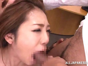 Gangbang,Hardcore,Asian,Japanese,Office,Reality Seductive Japanese babe gets gang...