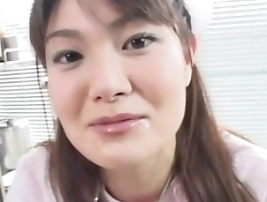 Facial,Japanese,Pussy,Hairy,Blowjob,Asian,Babes,Pussy licking,Straight Hot japanese receives facial