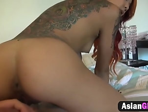 asian;hardcore;amateur;girlfriend;doggy-style;tattoo Asian girlfriend gets cunt stretched...