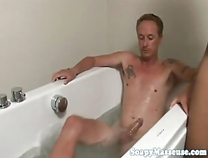 Asian;Cumshots;Showers;Foot Fetish;Massage;Masseuse;Asian Feet;Asian Masseuse;Fantasy Massage Asian masseuse wanks soapy cock with...