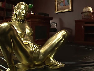 Japanese,Fetish,Messy Gold treatment for a submissive...
