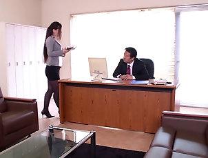 Couple,Hardcore,Reality,Asian,Japanese,Long Hair,Office,Miniskirt The worlds best Japanese secretary...