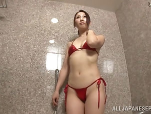 Couple,Hardcore,Bath,Asian,Japanese,Bikini Dashing Japanese babe in a bikini...