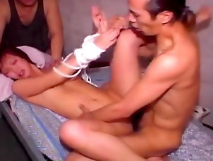 Japanese,Threesome,Small tits,Hardcore,Blowjob,Asian,Perfect body,Facial,Pornstar,Straight Yuri Mizuki being drilled with two dicks