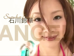 Asian;Bikini;Fingering;Japanese;Squirting;Shio Fuky Slim Suzuka Ishikawa endures toys up...
