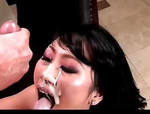 Asian;Cumshots;Facials;Cum in Mouth;HD Videos Evelyn Lin VS Peter North