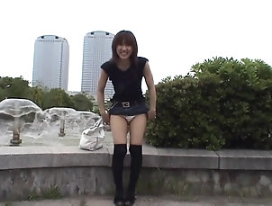 Solo Models,Japanese,Public,Stockings,Nylon,Pissing,Street,Miniskirt Horny stranger Yuzuki Hatano flashes...