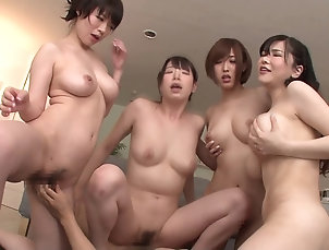 HD,Group Sex,Hardcore,Asian,Japanese Four beautiful Japanese ladies demand...