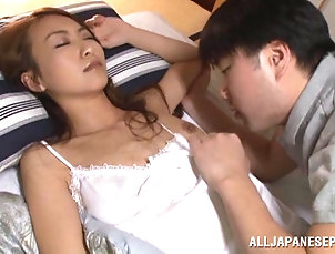 Couple,Hardcore,Asian,Japanese,Panties,Natural Tits Ravishing Asian milf getting her...