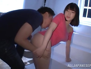 Reality,Couple,Hardcore,Asian,Japanese,Big Tits,Natural Tits,Big Nipples,Oiled Big Titted Japanese Hottie Oiled Up...