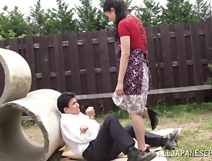Asian,Japanese,Brunettes,Couple,Hardcore,Femdom,Outdoor Wonderful Japanese Femdom Goes Really...