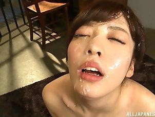 Couple,POV,Japanese,Cumshot,Facial Caged Japanese sweet thing Fujii...