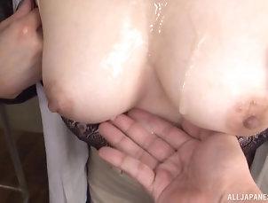 Close Up,Hardcore,Natural Tits,Big Tits,Cumshot,Cum On Tits She's the cutest Asian girl...
