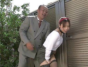 Couple,Hardcore,Asian,Japanese,Miniskirt Asian cutie has her hairy twat fucked...