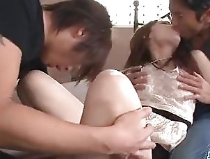 Asian;Blowjobs;Group Sex;Japanese;Creampie;Jav HD;Dirty;Fucked Ayaka Fujikita fucked by two hunks in...