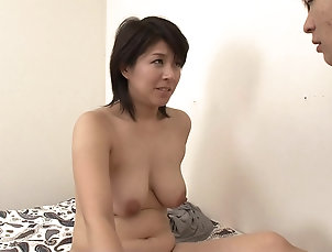 Couple,Japanese,Panties,Natural Tits,Hairy Nozomi Sasayama is a babe in white...