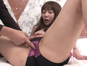 Couple,Japanese,Fingering,Panties Teen Japanese in a costume Airi...