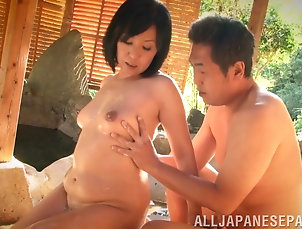 Couple,Hardcore,Asian,Japanese,Chubby,Natural Tits,Pool Asian milf swallows a stiff...