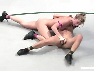 Catfight,Sport Tia Ling gets her Asian pussy...