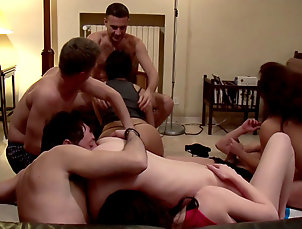 Group sex,Interracial,Redhead,Cumshot,Brunette,Blowjob,Asian,Babes,Pussy licking,Riding,Doggy style,Orgy,Straight Sexy asian having group sex