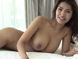 Asian,Thai Big tits Thai girl loves dick and...
