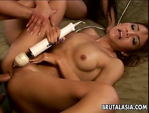 Hardcore,Asian,Threesome,FFM,Vibrator,Toys,Natural Tits Threesome with some very arousing...