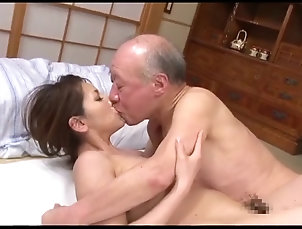 Old vs Young,Asian,Japanese,Hardcore,Couple Japanese father-in-law scene 2