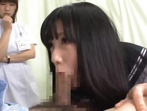 Amateur,Asian,Lesbian,Nurses,Uniform,Deepthroat,Japanese,Panties,Reality,Swallow,Threesome Hot Lesbian Action Between Two Horny...