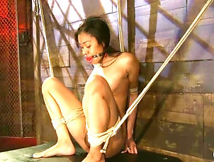 Asian,Brunettes,Casting,Couple,Hardcore,Interracial,Long Hair,Natural Tits,Piercing,Reality Yasmine de Leon enjoys a gag in her...