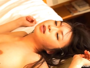 Couple,Hardcore,Asian,Japanese Shy Asian chick with a hairy pussy...