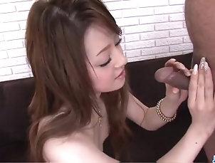 Asian,Japanese Ria Sakurai craves to swallow jizz...