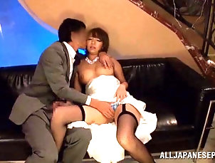 Asian,Couple,Hardcore,Japanese,Reality Japanese bride engulfs on hungry cock...