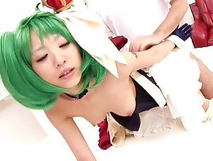 Couple,Hardcore,Asian,Japanese,Bra A cute Japanese girl with green hair...