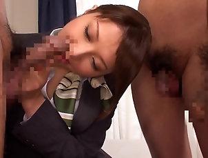 Cum In Mouth,Swallow,Babes,Asian Yuuna Takizawa enjoys sucking two...