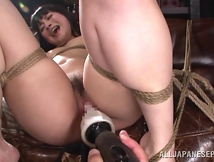 BDSM,Bondage,Fetish,Asian,Japanese Bound girl cannot stop the baseball...