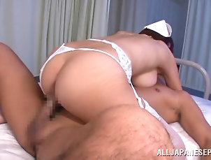 Nurses,Asian,Hardcore,Japanese,Big Tits,Threesome,MMF,Natural Tits,Cumshot,Cum In Mouth,Swallow,Facial,Cum On Tits Asian pornstar takes cum in mouth...
