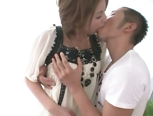Hardcore,Couple,Asian,Japanese,Natural Tits Scream as natural tits doll gets...
