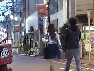 Couple,Japanese Misaki Kanna and her boyfriend come...