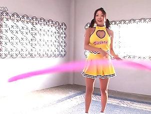 Lesbian,Japanese,Fingering,Uniform,Cheerleaders,Flexible Nasty cheerleaders want to make each...