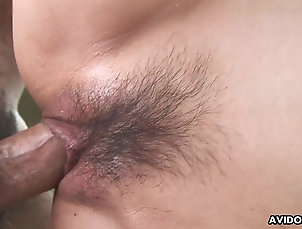 Japanese Fucking her doggystyle and she moans...