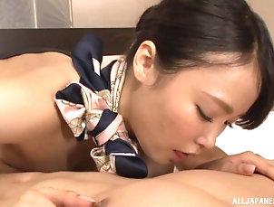 Couple,Hardcore,Asian,Japanese,Uniform,Miniskirt,Pantyhose,Nylon Flight attendant in his hotel room...
