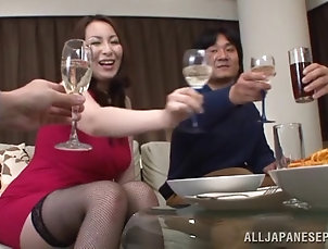 Asian,Japanese,Mature Mature Japanese cowgirl delivering a...