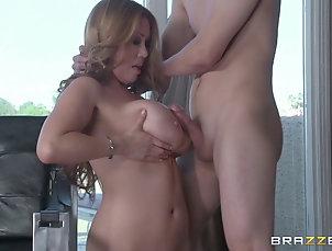 Couple,Hardcore,Asian,Big Tits,Fake Tits,Pornstars,Handjob,Cumshot,Facial Lingerie-clad cougar with big...