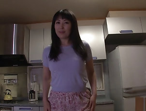 Couple,Hardcore,Asian,Japanese,Kitchen Stunning Sorami Haga treats a guy to...