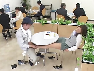 Asian,Couple,Foot Fetish,Hardcore,Japanese,Miniskirt,Public Kinky Japanese chick gives a footjob...